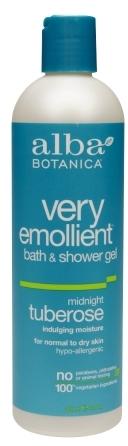 Tuberose Alba Botanica Very Emollient Bath & Shower Gel Midnight
