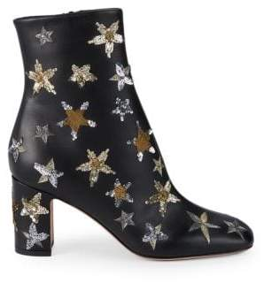 Valentino Star Embellished Booties