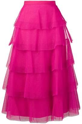 RED Valentino tiered dot mesh skirt