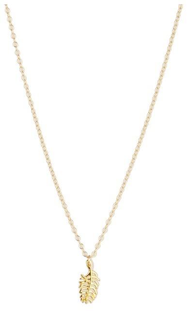 gorjana  Feather Charm Necklace