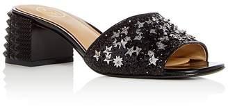 Ash Women's Ruby Star Embellished Block Heel Slide Sandals