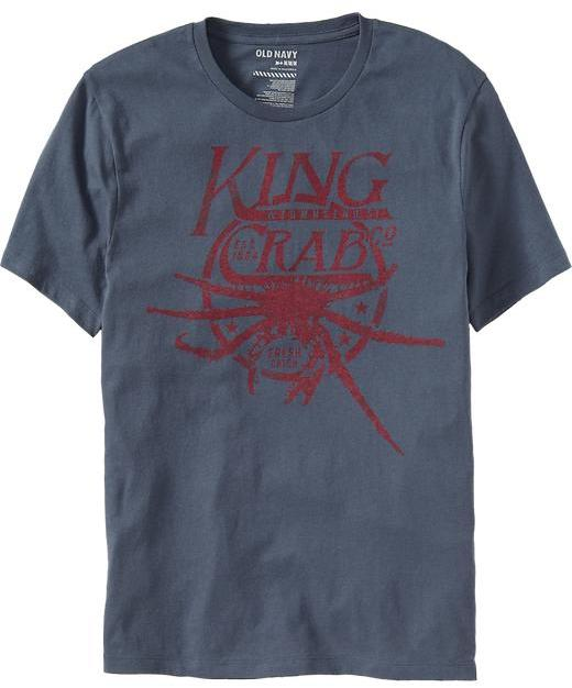 """Old Navy Men's """"King Crab Co."""" Graphic Tees"""