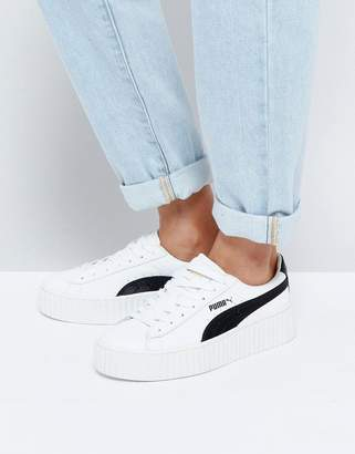 Puma X Fenty Creepers In Crackled Leather
