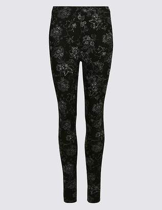 Marks and Spencer Cotton Rich Floral Print Leggings