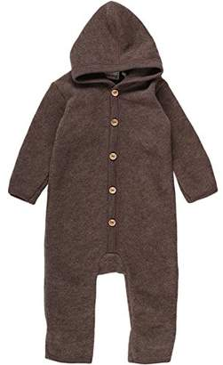 Green Cotton Fred's World by Baby Wool Fleece Suit Hood Bodysuit,3-6 Months