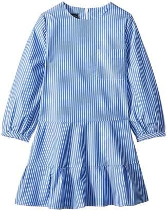 Oscar de la Renta Childrenswear Long Sleeve Tie Bow Front Dress Girl's Dress