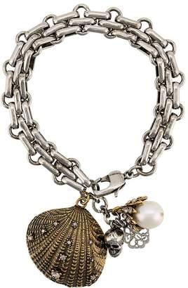 Alexander McQueen Seashell charm bracelet