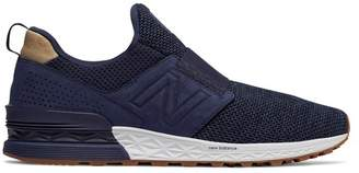 New Balance 574 Sport Decon Slip-On Suede Sneaker