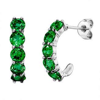 Fine Jewelry Ss Emerald Ear
