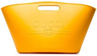 Gucci Yellow logo rubber tote