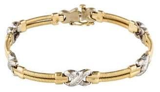14K Diamond X Link Bracelet