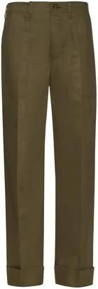 MAFALDA VON HESSEN Wide-leg cotton-blend trousers