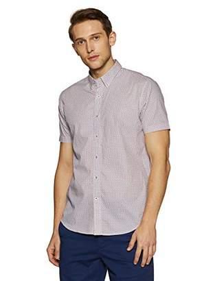 Casual Terrains Men's Tailored Slim-Fit Short-Sleeve Button-Down Shirt