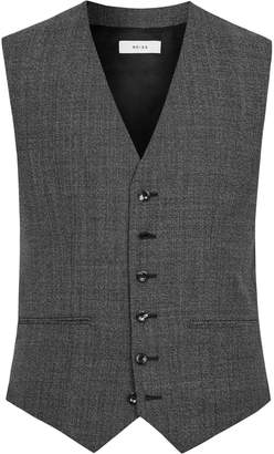 Reiss Angel W - Modern Fit Waistcoat in Black/White