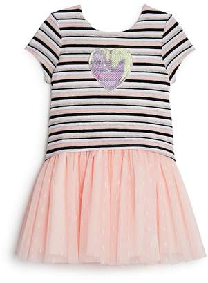 Pippa & Julie Girls' Striped Tutu Shirt Dress - Little Kid