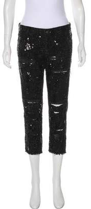 Monika Chiang Mid-Rise Cropped Jeans
