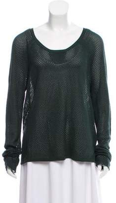 Rag & Bone Long Sleeve Open Knit Sweater