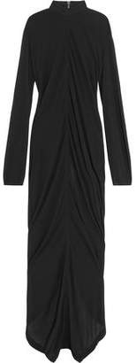Rick Owens Draped Jersey Maxi Dress