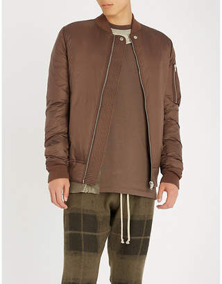 Rick Owens Sash-panel shell bomber jacket