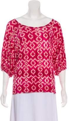 MICHAEL Michael Kors Printed Short Sleeve Top