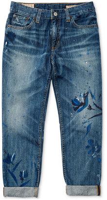 Ralph Lauren Floral-Print Jeans, Big Girls (7-16) $89.50 thestylecure.com