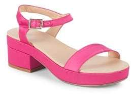 Satin Block Heel Sandals