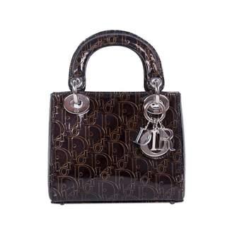 0f86b87eb5e5 Christian Dior Black Patent Leather Handbags - ShopStyle