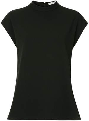 Tibi structured mock neck top