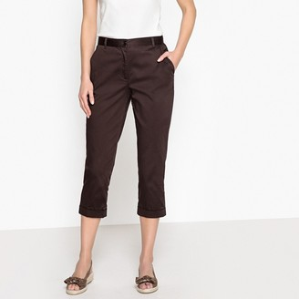 Anne Weyburn Stretch Cotton Satin Cropped Trousers a2061a6ade2