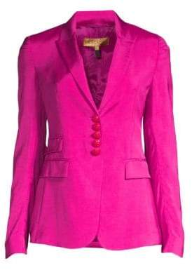 Escada Women's Single-Breasted Suit Jacket - Medium Pink - Size 34 (4)