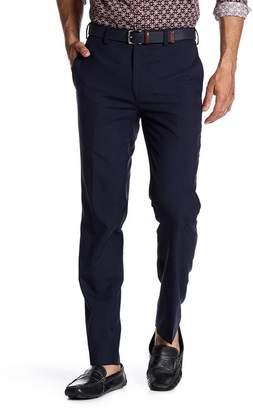 """Louis Raphael Glenplaid Flat Front Trim Fit Trousers - 30-34\"""" Inseam"""