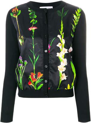 Moschino floral panel cardigan