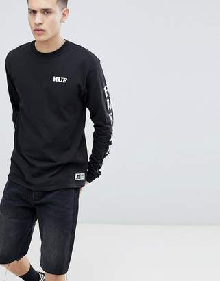 HUF X Felix The Cat Long Sleeve T-Shirt In Black