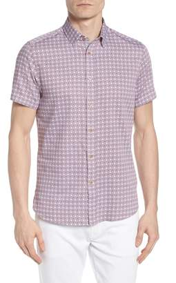 Ted Baker Modmo Slim Fit Printed Cotton Shirt