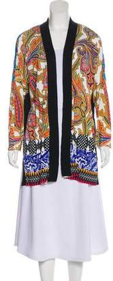 Etro Printed Open Cardigan