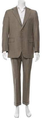 Barneys New York Barney's New York Wool Three-Button Suit