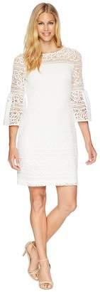Lauren Ralph Lauren 138A Filigree Striped Obelix 3/4 Sleeve Day Dress Women's Dress
