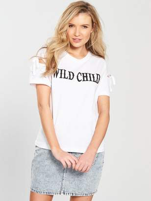 Noisy May Chloe Short Sleeve Tee - White
