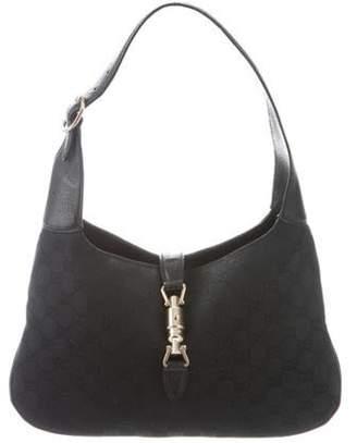 Gucci Vintage Jackie GG Canvas Bag Black Vintage Jackie GG Canvas Bag