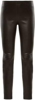Givenchy High-rise zip-cuff leather leggings