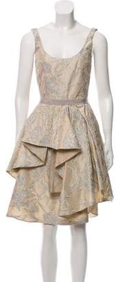 Isaac Mizrahi Metallic Sleeveless Dress