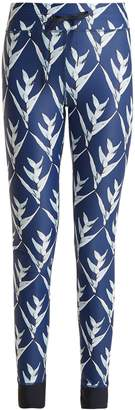 The Upside Daylilies-print performance leggings