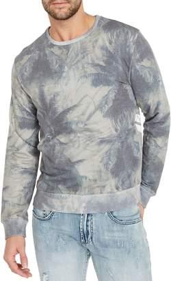 Buffalo David Bitton Graphic Long-Sleeve Cotton Blend Fleece Top