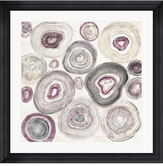 "Metaverse Rings of Power v2 by Albena Hristova Framed Art, 32"" x 32"""