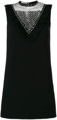 Miu Miu crystal embellished shift dress