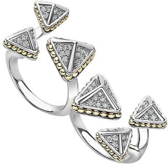 Lagos KSL Lux Diamond Two-Finger Ring
