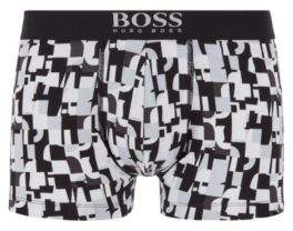 BOSS Stretch-cotton trunks in a graphic print