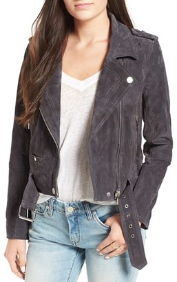 BLANKNYC 'Morning' Suede Moto Jacket $188 thestylecure.com