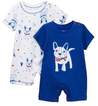 Vitamins Baby Nautical Frenchie Romper - Pack of 2 (Baby Boys)