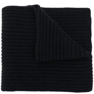 Pringle rib knit crossover scarf